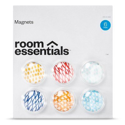 Novelty Magnet Set 6 ea Multi-colored Room Essentials