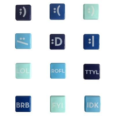 Room Essentials Emoji and Network Catchphrase Magnet - Set of 12