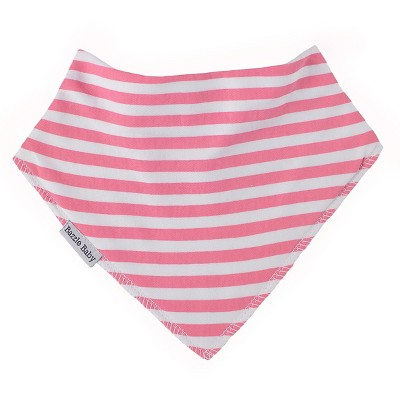 Bazzle Baby Banda Bibs - Pink Stripe