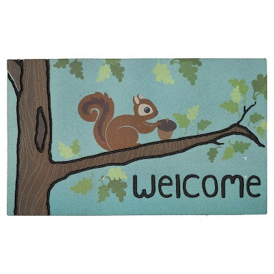 "Mohawk Squirrel Fancy Doormat - Multi-Colored (1'6""x2'6"")"