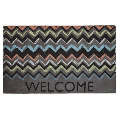 "Mohawk Chalky Chevron Doormat - Multi-Colored (1'6""x2'6"")"