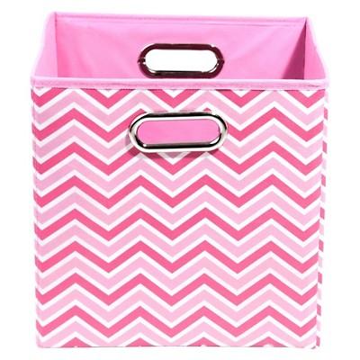 Modern Littles Zig Zag Storage Bin - Pink