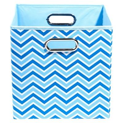 Modern Littles Zig Zag Storage Bin - Blue