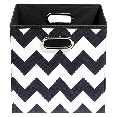 Modern Littles Chevron Storage Bin - Black