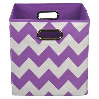 Modern Littles Stripes Storage Bin -  Purple