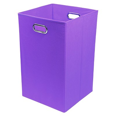 Modern Littles Folding Laundry Basket - Purple