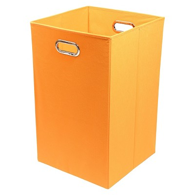 Modern Littles Folding Laundry Basket - Orange