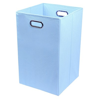 Modern Littles Folding Laundry Basket - Sky Blue