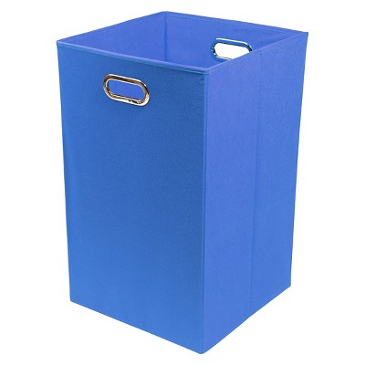Modern Littles Folding Laundry Basket - Blue