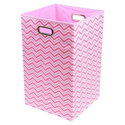 Modern Littles Zig Zag Laundry Basket Pink