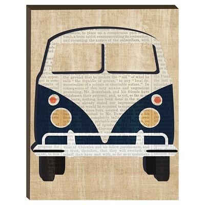 Vintage Van Unframed Wall Canvas - 14x18