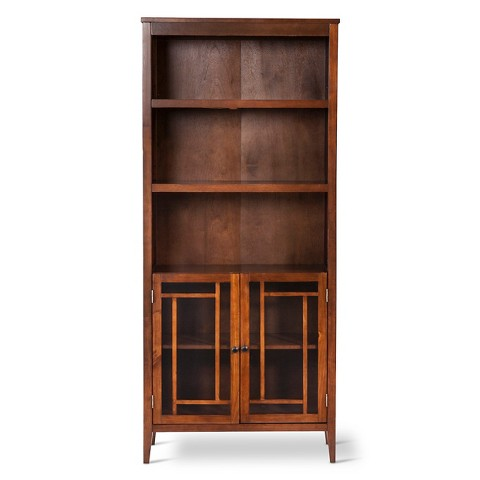 luther bookcase with storage target