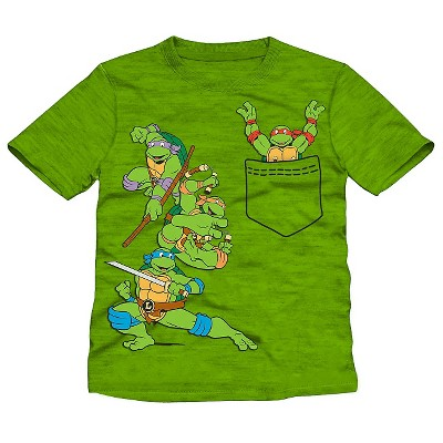 Male Tee Shirts Teenage Mutant Ninja Turtles Green 12 M