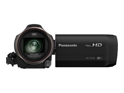 Panasonic Flash Memory Digital Camcorder with HDR Movie, Wi Fi and 50x Zoom - Black (HC-V770K)