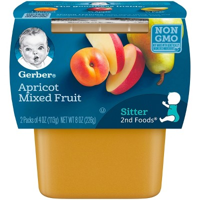 Gerber 2nd Foods Apricot with Mixed Fruit - 8oz (8 Pack)