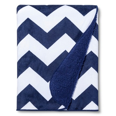 Circo™ Valboa Baby Blanket - Navy Chevron