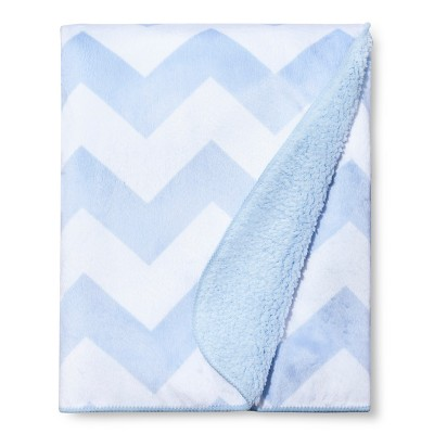 Valboa Baby Blanket - Light Blue Chevron - Circo™