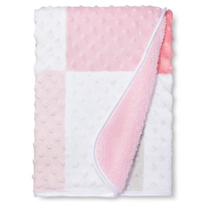 Valboa Patchwork Baby Blanket -  Pink & White - Circo™