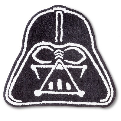 "Star Wars Darth Vader Bath Rug - Black/White (21x30"")"