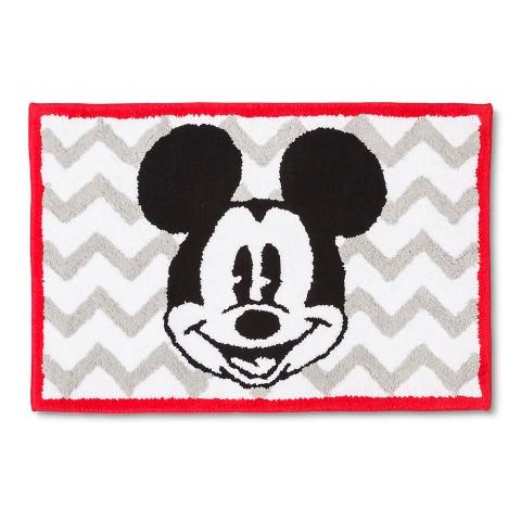 disney 174 mickey mouse chevron bath rug gray whi target