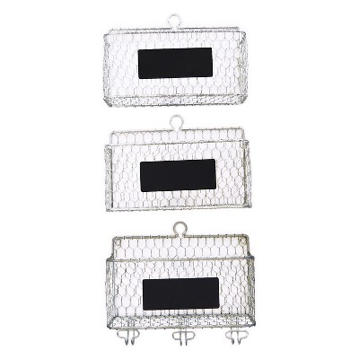 Chicken Wire Baskets with Faceplates - 3 Piece