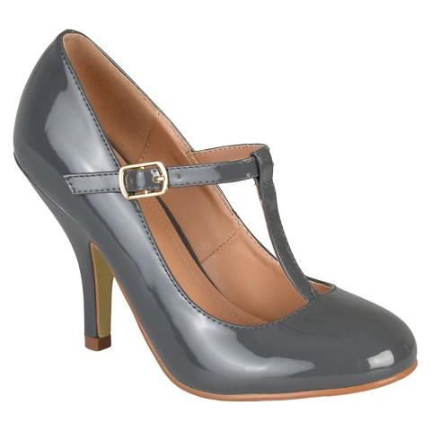 women 39 s journee collection lessah t strap pumps. Black Bedroom Furniture Sets. Home Design Ideas