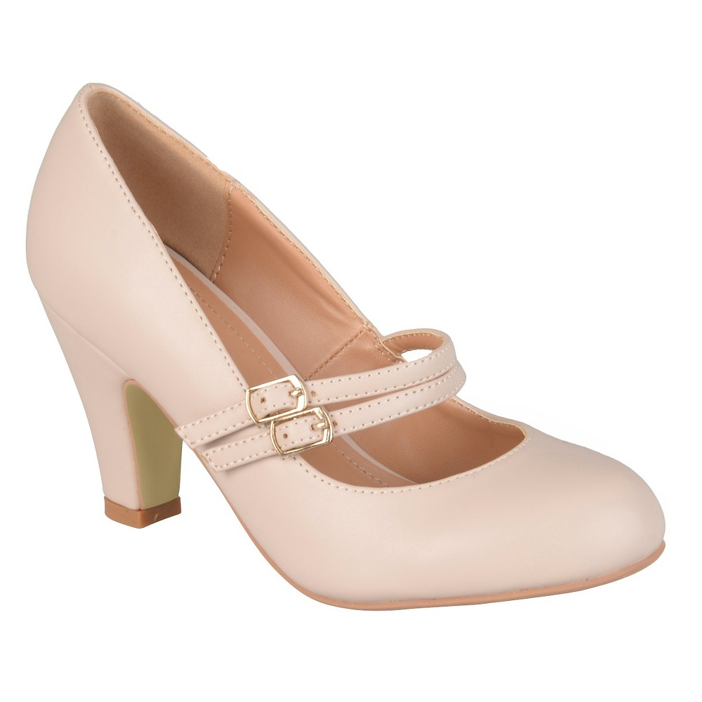 Women's Journee Collection Windy Double Strap Pumps - Nude 6