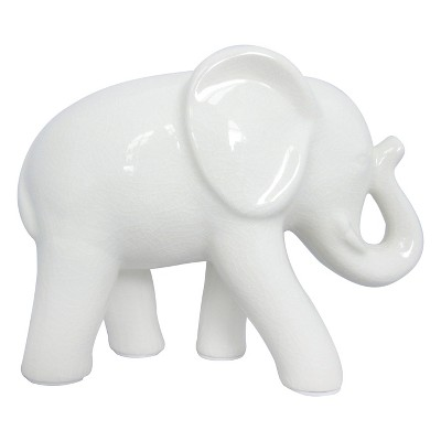 Cream Ceramic Elephant