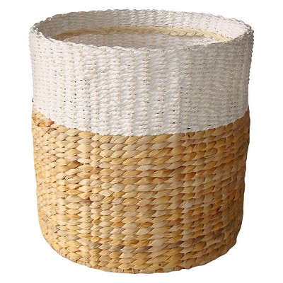 Threshold White & Natural Woven Basket - Small