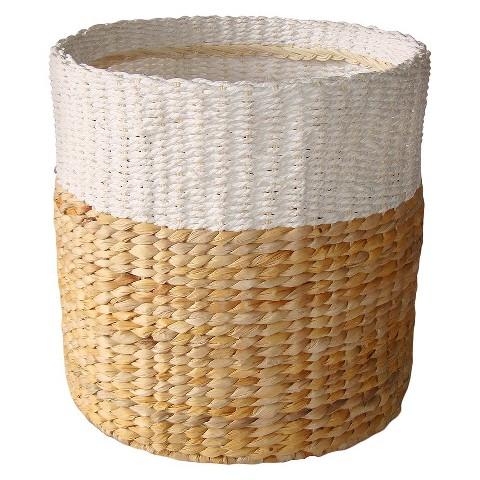 White Natural Woven Basket Small Threshold Target