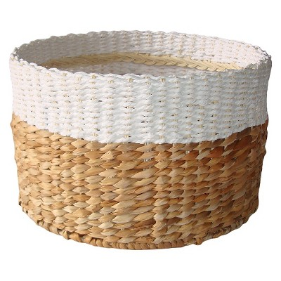 Threshold White & Natural Woven Basket - Large