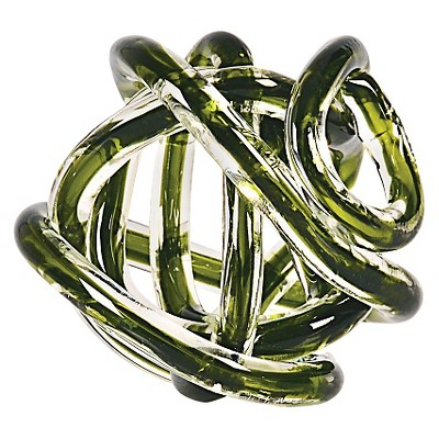 Green Glass Knot - Large