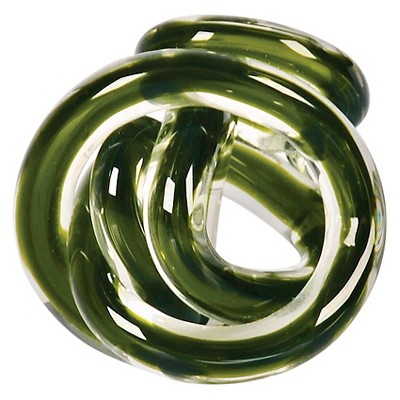 Green Glass Knot - Small