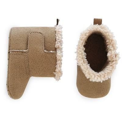 Just One You™ Made By Carter's® Newborn Boys' Slipper Boot - Brown 2