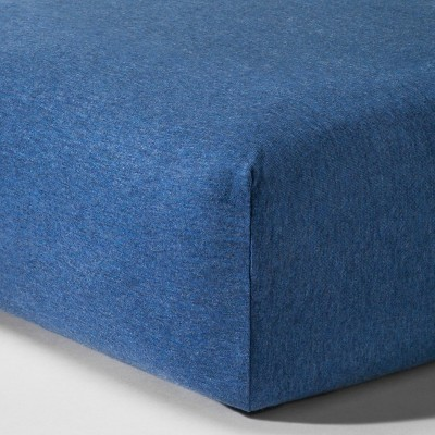 Knit Fitted Crib Sheet - Heather Navy - Circo™