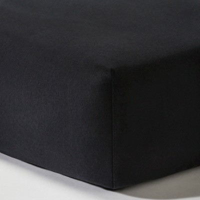 Knit Fitted Crib Sheet - Black - Circo™