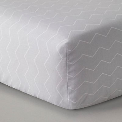Circo™ Baby Fitted Sheet Gray Foggy Day/True White