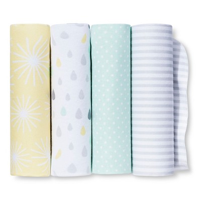 Circo™ 4pk Flannel Receiving Blankets - My Sunshine