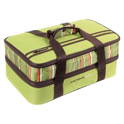 Rachael Ray Expandable Lasagna Lugger - Green Stripe