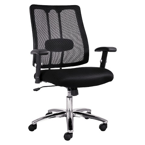 alera office chair black chrome target