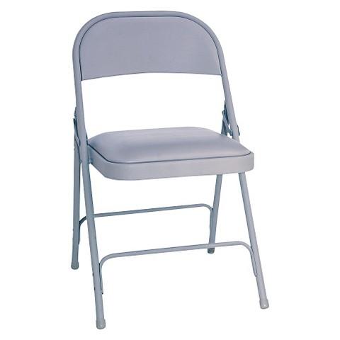 Alera Steel Folding Chair w Padded Seat Graphi Tar