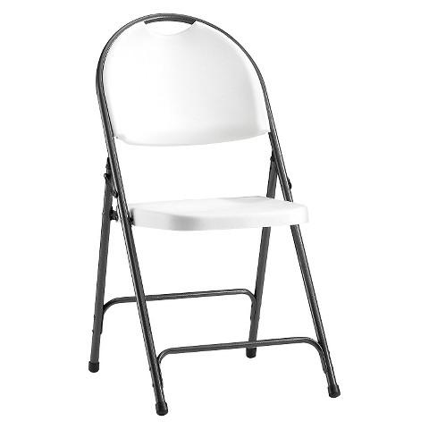 Alera Steel Folding Chair w Padded Seat Tan Tar