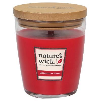 Nature's Wick Christmas Time 10 oz Jar Candle