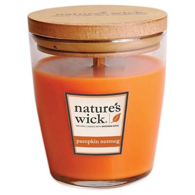 Nature's Wick Pumpkin Nutmeg 10 oz Jar Candle