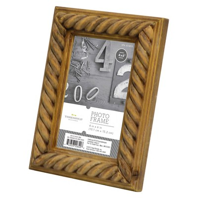 "4""x6"" Carved Wood Frame- Threshold™"