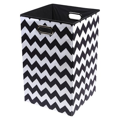 Modern Littles Chevron Laundry Basket - Black