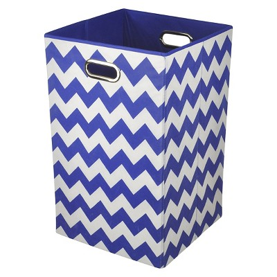 Modern Littles Chevron Laundry Basket - Blue