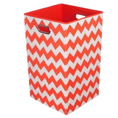 Modern Littles Chevron Laundry Basket  - Red