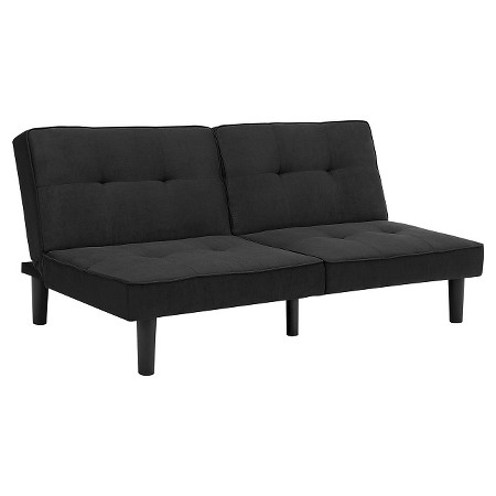Microfiber Futon Black Room Essentials Tar