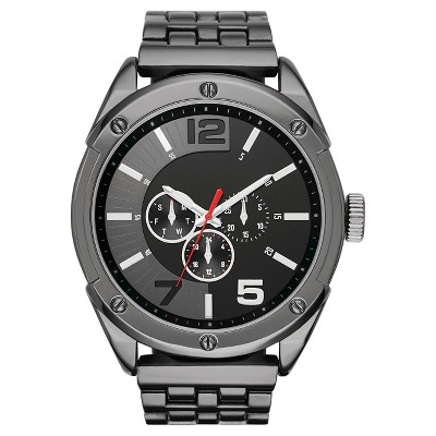 Men's Oversized Analog and Digital Watch in Black with Decorative Subdials - Mossimo™